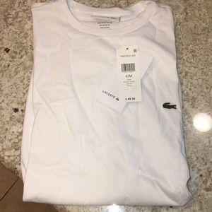 Lacoste men's th6709 white crew neck T-shirt tee